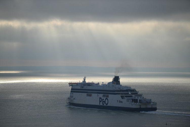 Un ferry de P & O quitte le port de Douvres le 1erjanvier 2021.