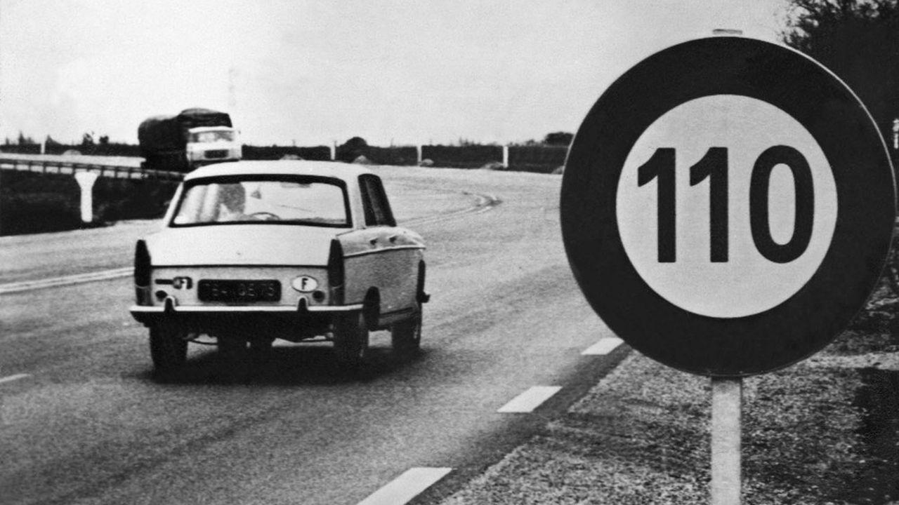 Photo prise le 24avril 1970 sur la nationale 13bis à la sortie duHavre.