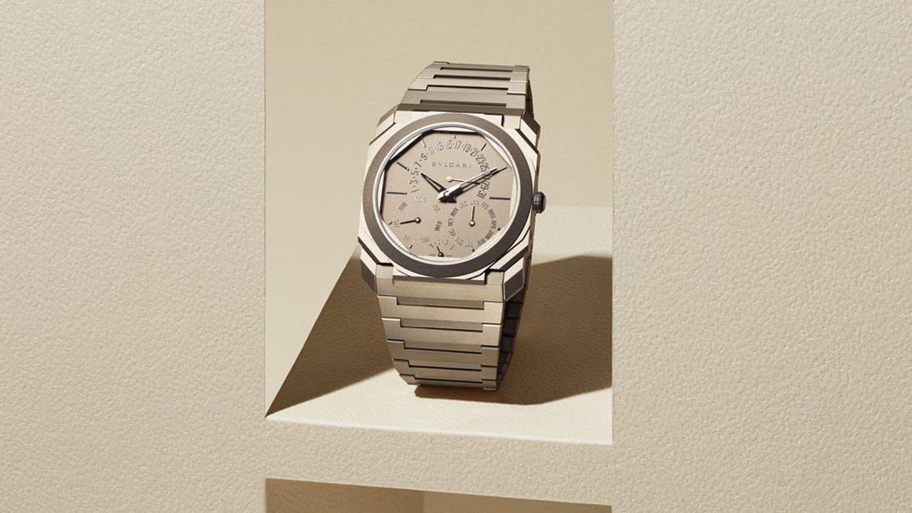 L'Octo Finissimo de Bvlgari, record mondial de la montre la plus plate.