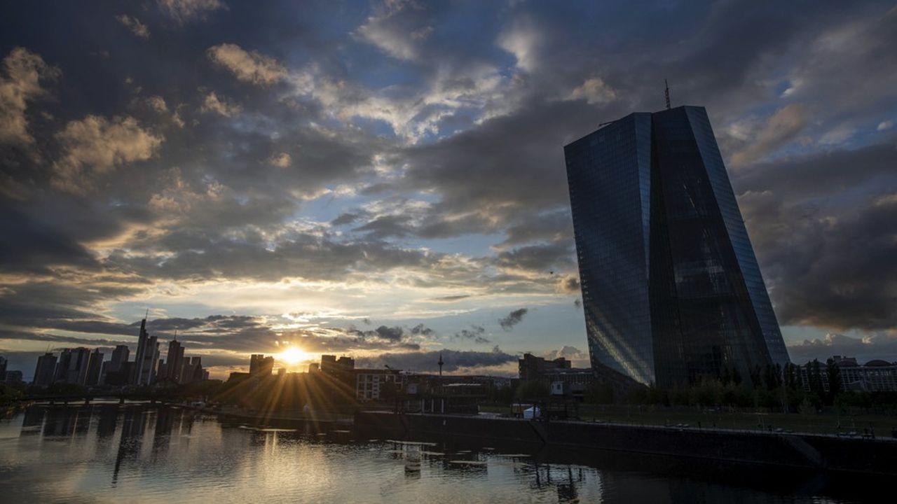 La Banque centrale européenne (BCE) alimente largement en liquidités les banques de la zone euro.