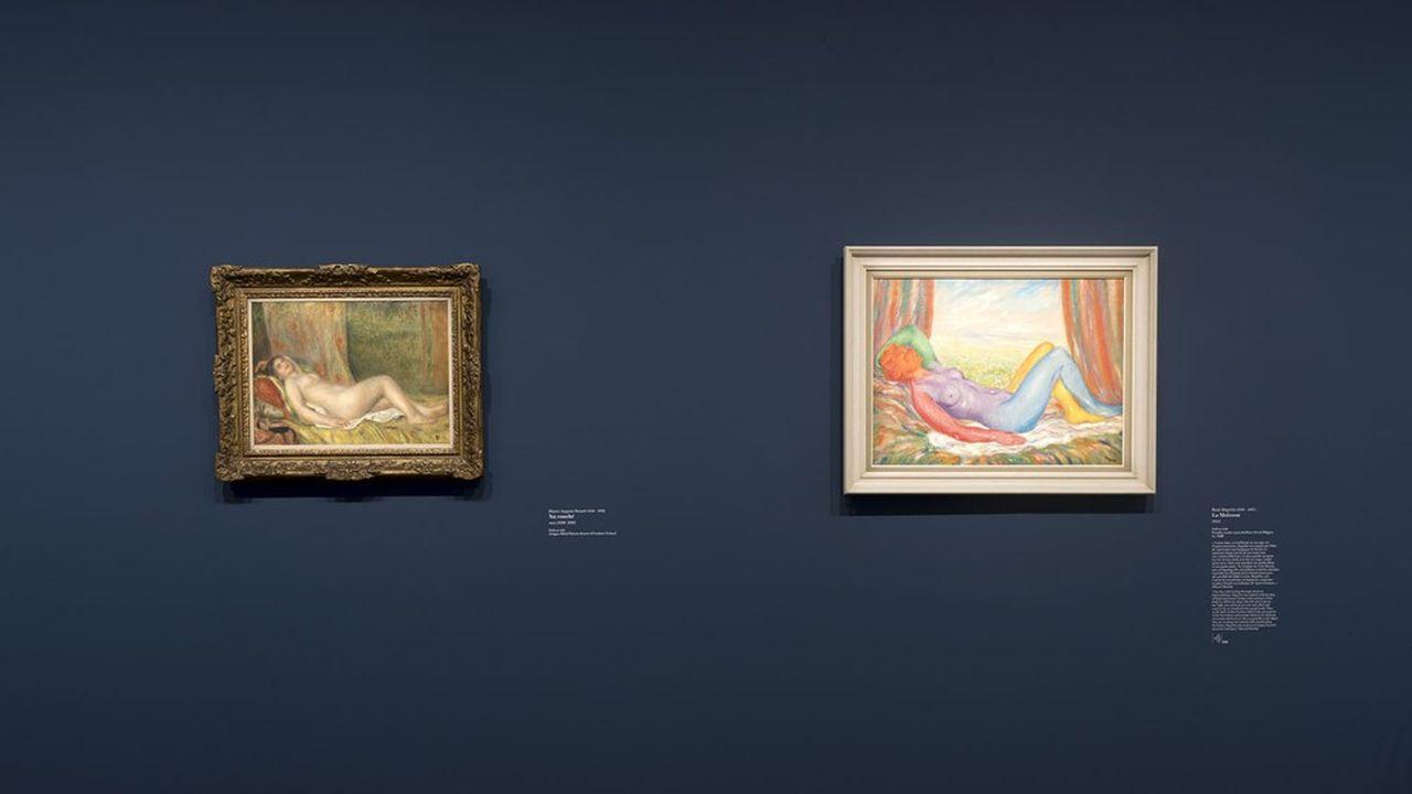 Magritte s'inspire directement du nu de Renoir dans «La moisson» de 1943.