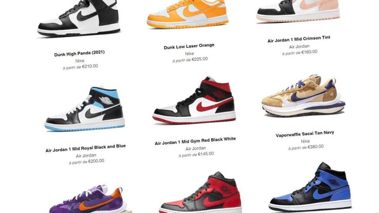 Lancé en2018, Wethenew permet de trouver des modèles de sneakers en éditions limitées auprès de revendeurs en ligne.