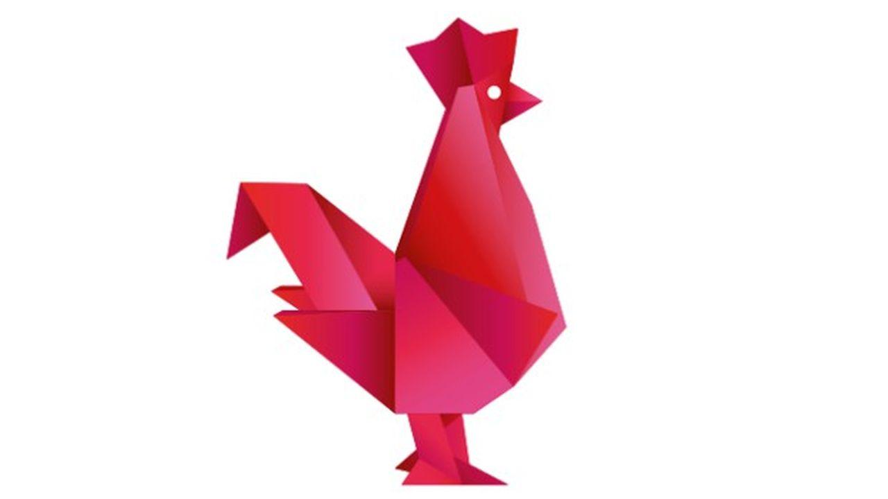 Le coq en origami, symbole de la French Tech