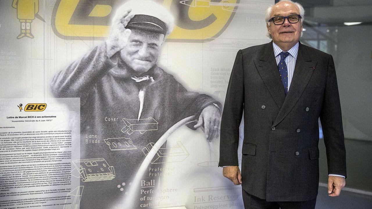 Bruno Bich a dirigé de1993 à2006 le groupe Bic et en a été le président du conseil d'administration jusqu'en2018.