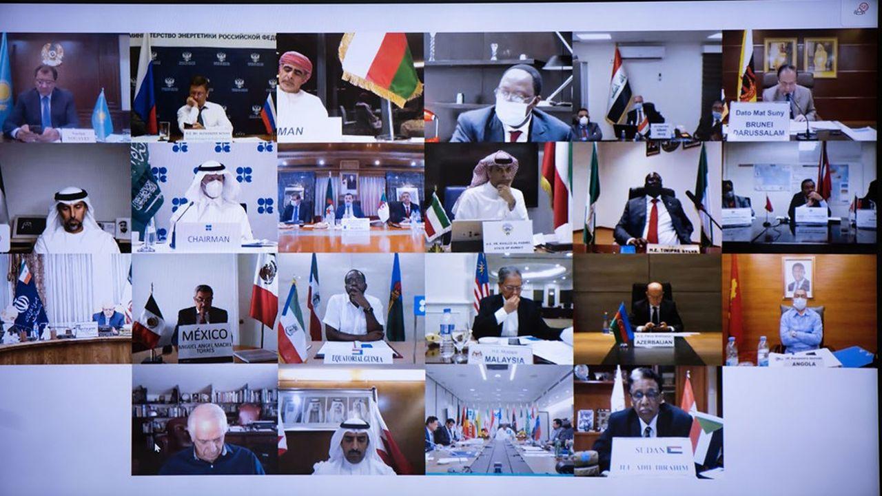 «La demande montre des signes clairs d'amélioration», a déclaré le ministre saoudien de l'Energie, le prince Abdelaziz ben Salmane à l'ouverture d'une réunion en visioconférence des treize pays de l'Opep et de leurs dix alliés menés par la Russie.