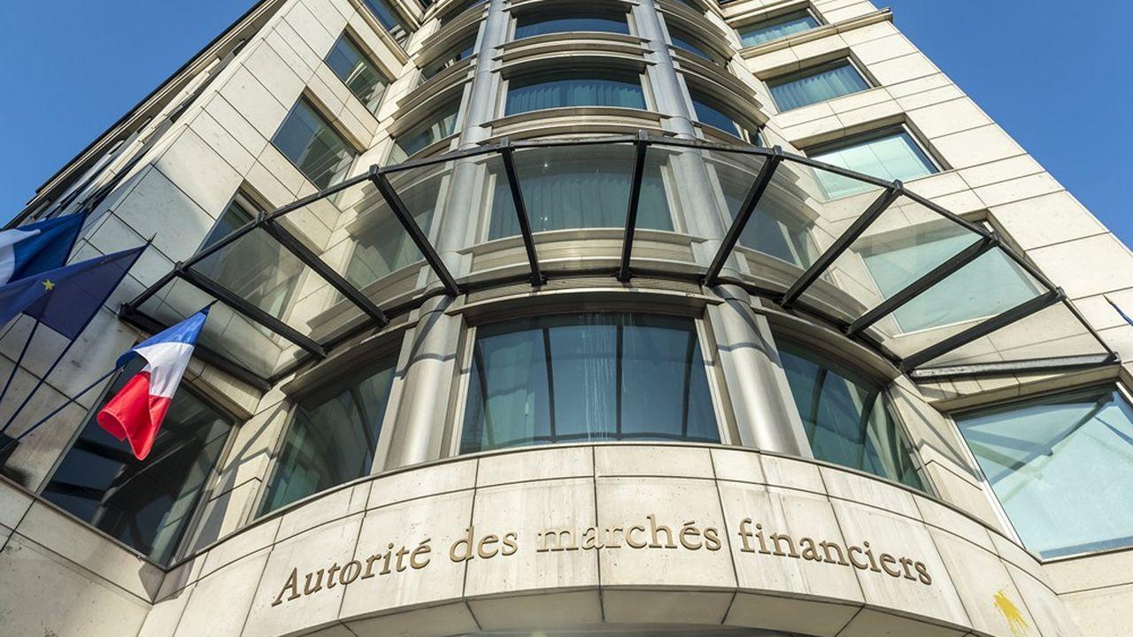 Siège de l'AMF à Paris, l'Autorité des marches financiers.