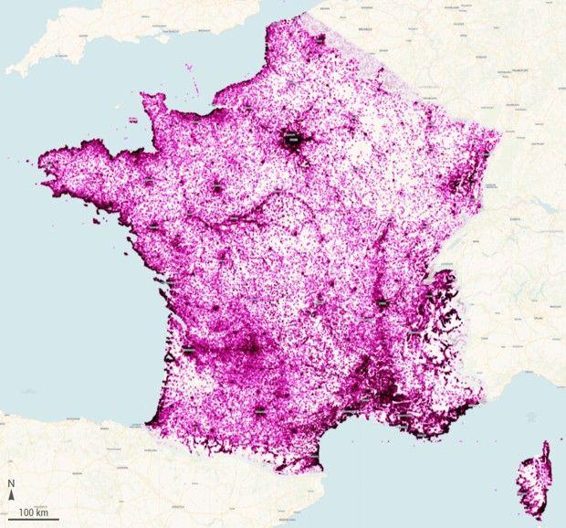 La France compte 600.000 annonces actives Airbnb sur tout le territoire, selon la carte élaborée par le militant Vincent Aulnay, du collectif ParisvsBnb.