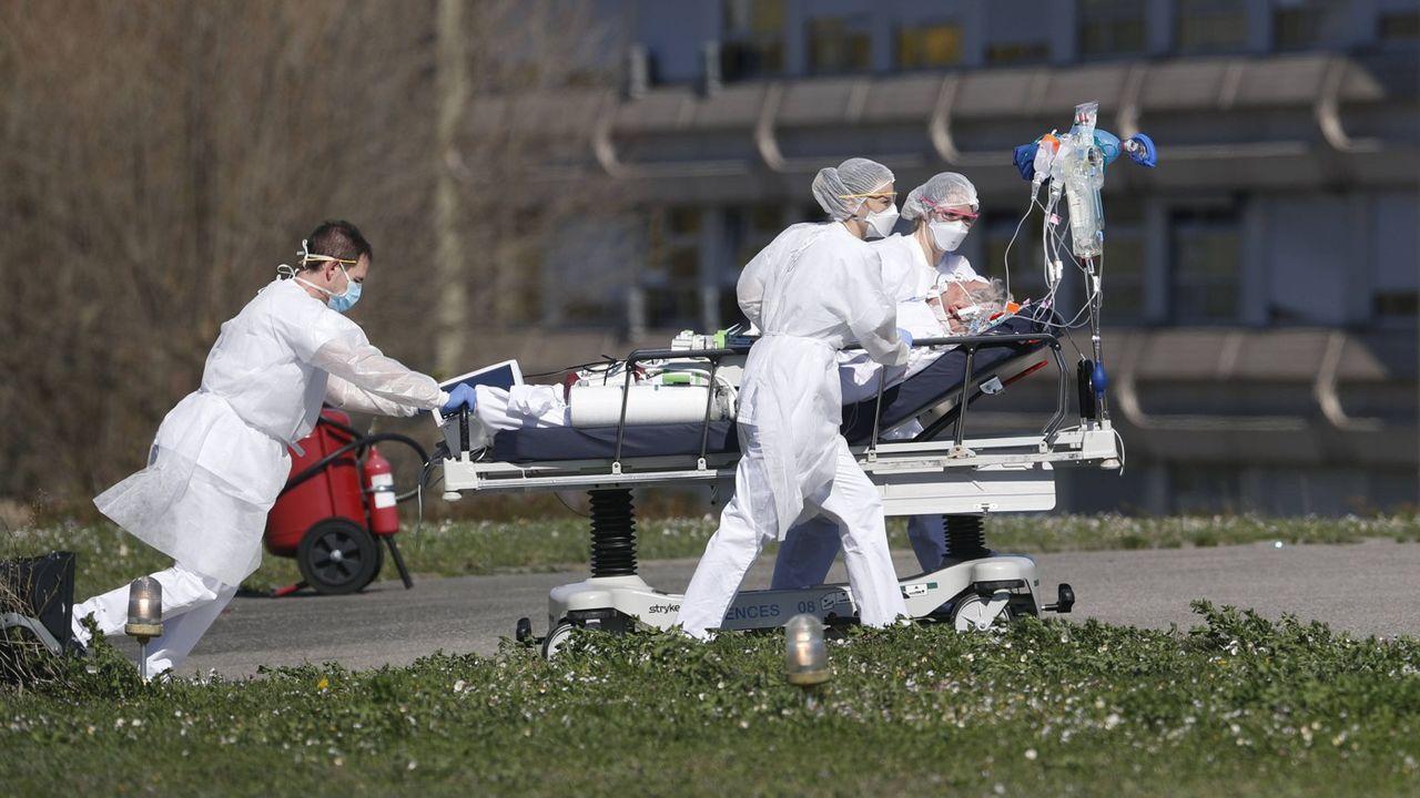 L'hôpital de Mulhouse le 23 mars.