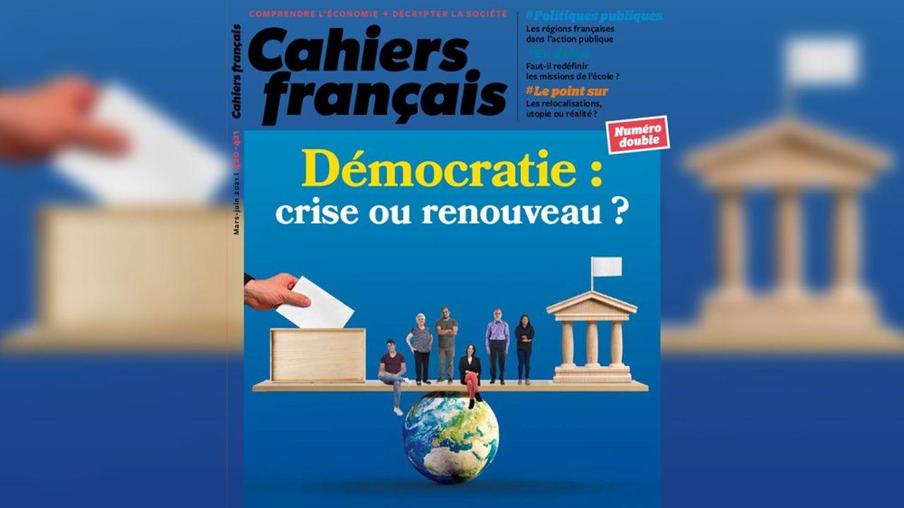 «Démocratie: crise ou renouveau?», Cahiers français n°420-421, 2021, 12euros.