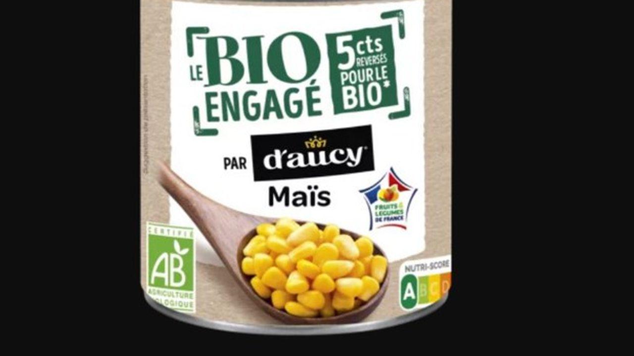 Chaque producteur bio touche 5 centimes de plus par bocal de légumes vendu par d'aucy.