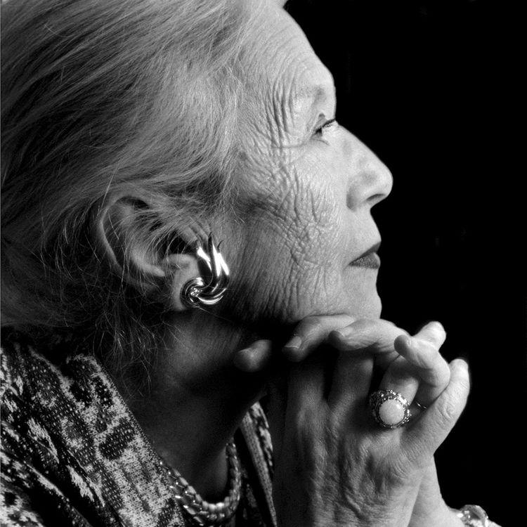 Dominique Rolin (ici, en 1996). Philippe Sollers a entretenu avec la romancière belge une liaison durant plus de cinquante ans, et une très large correspondance.