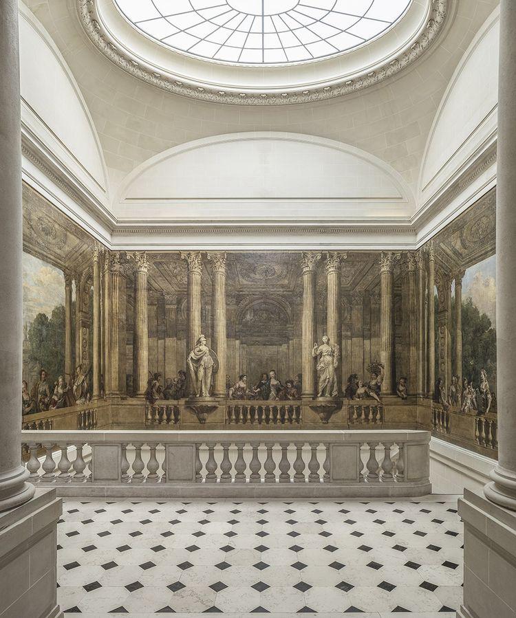 Les fresques de l'escalier de Luynes, au musée Carnavalet.