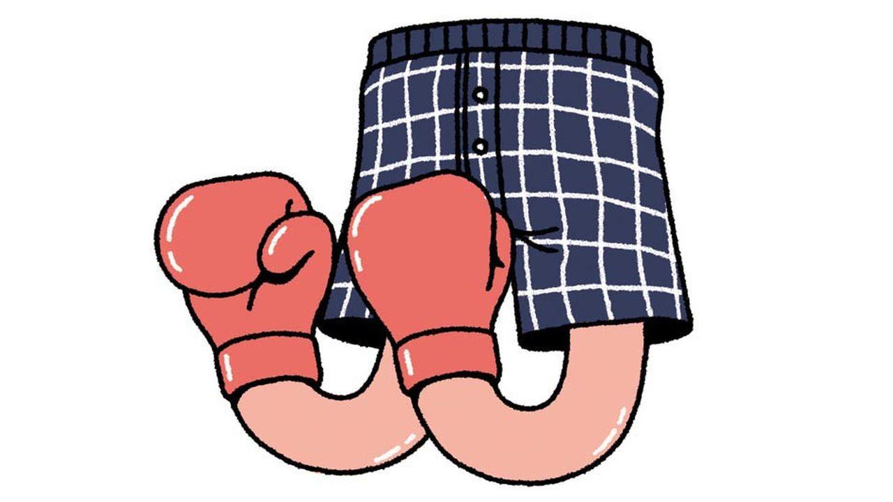 Le boxer-short victorieux par KO.