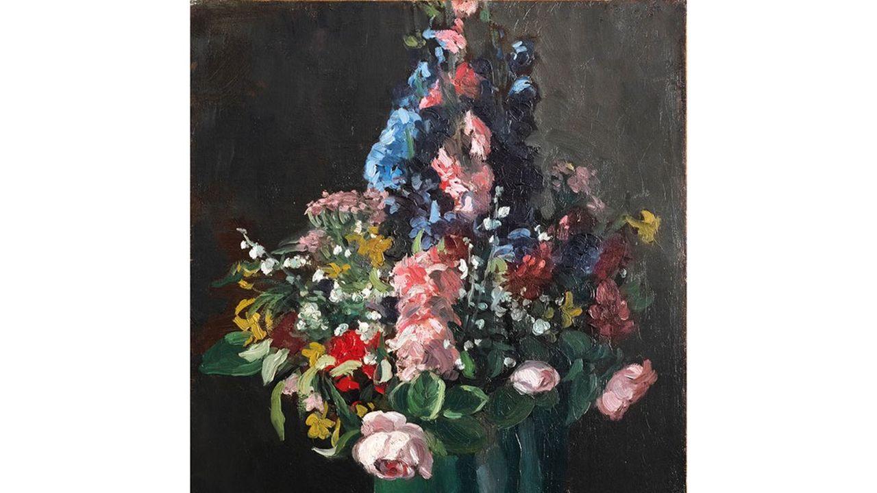 Frédéric BAZILLE (1841-1870), Fleurs, circa 1870 , Huile sur toile (est 200 000 - 300 000 €)