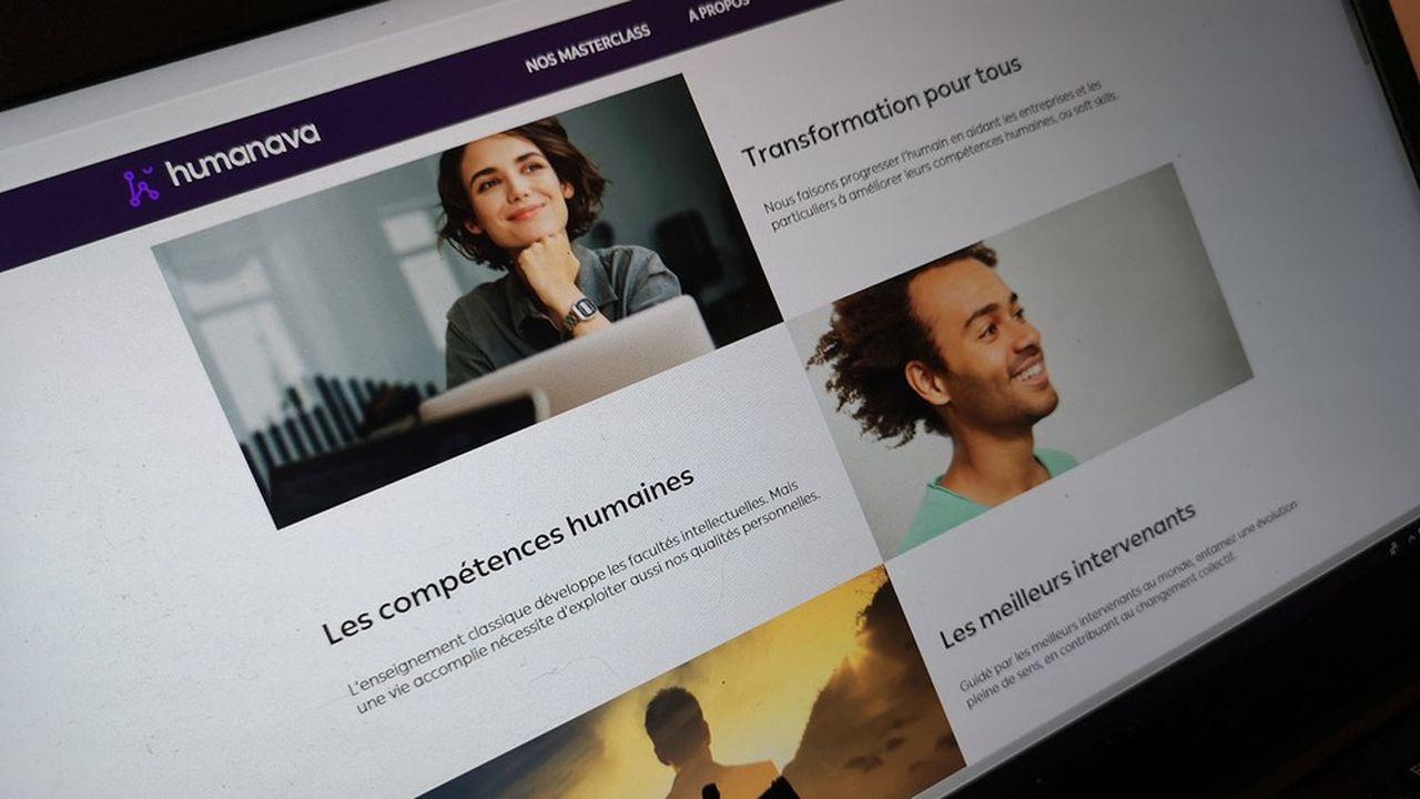 Humanava se présente sous la forme d'une plateforme dans laquelle les salariés peuvent piocher les contenus qui les intéressent.