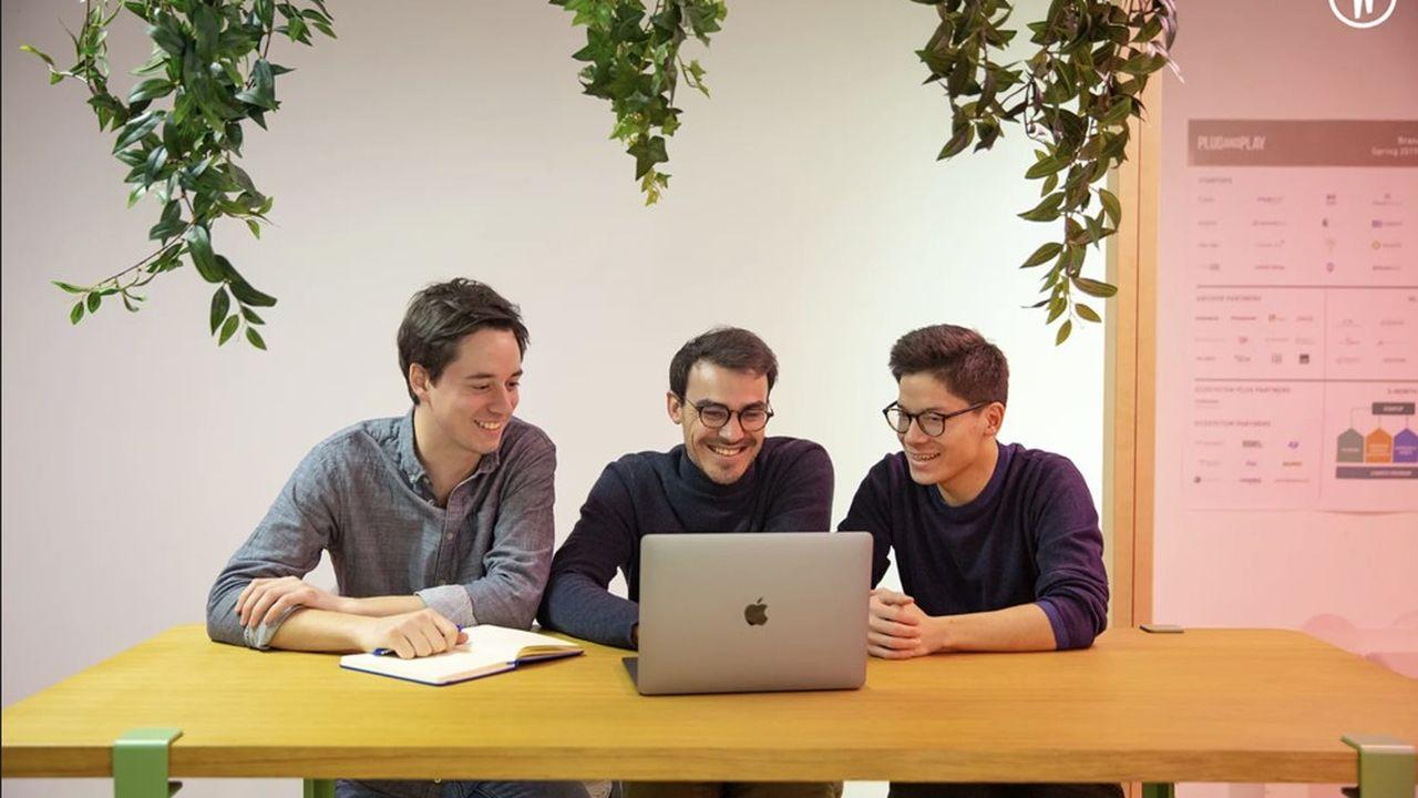 Les trois fondateurs de Pulp étaient étudiants quand ils ont lancé la start-up.