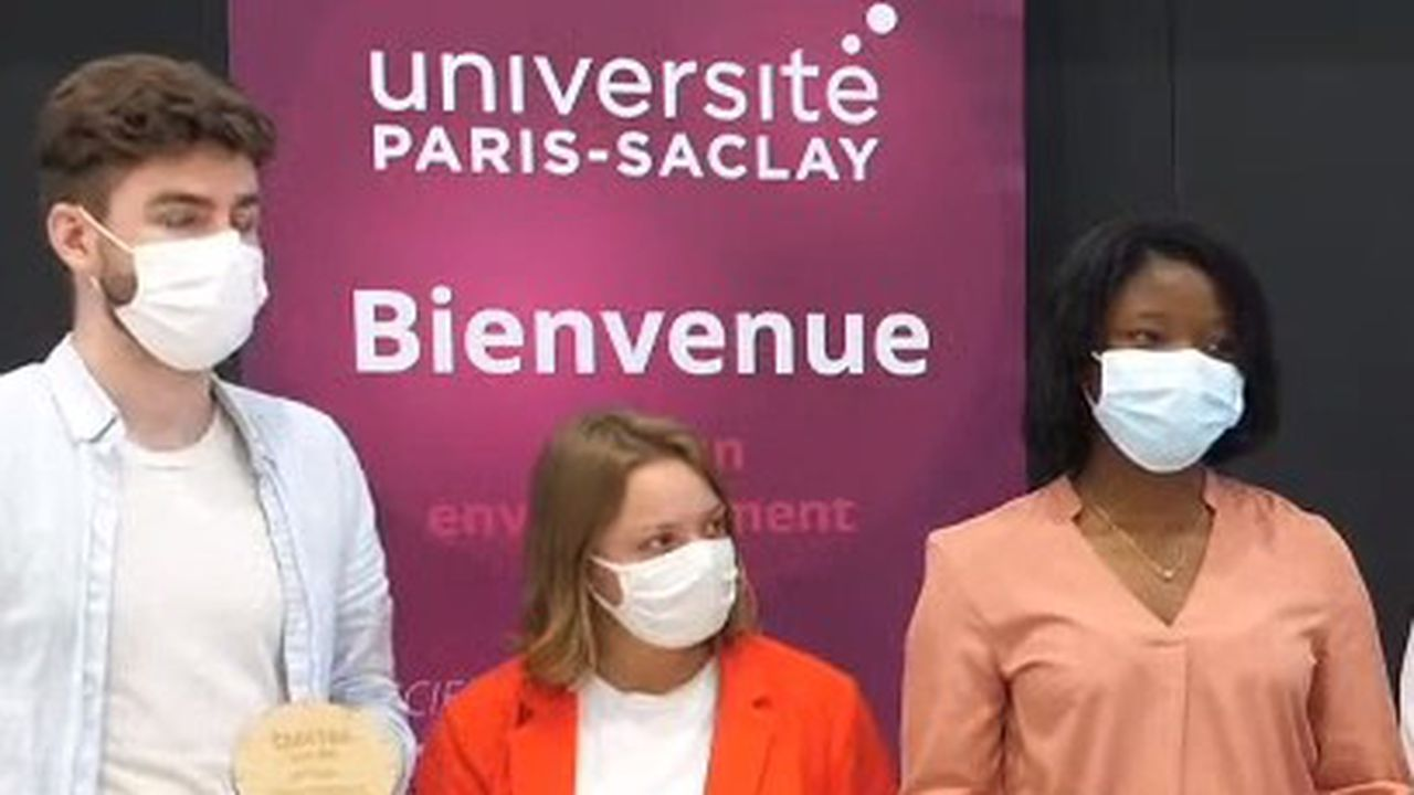 Thomas Boussu, Anaïs Ozenne et Elvanie Kagwiza, les trois lauréats du concours, le 3juin 2021.