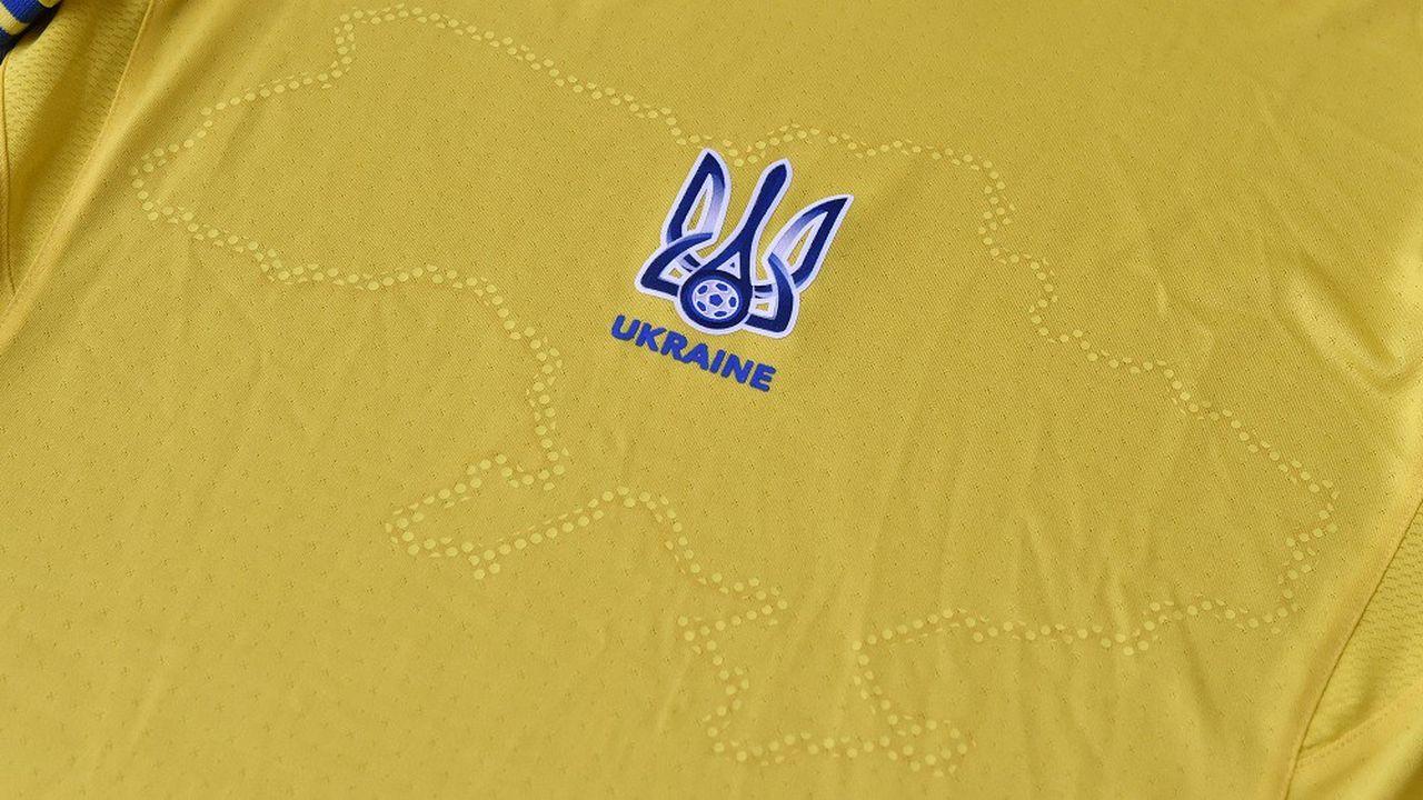 La carte de l'Ukraine imprimée sur le maillot de l'équipe nationale comporte la Crimée, pourtant contrôlée par la Russie depuis 2014.