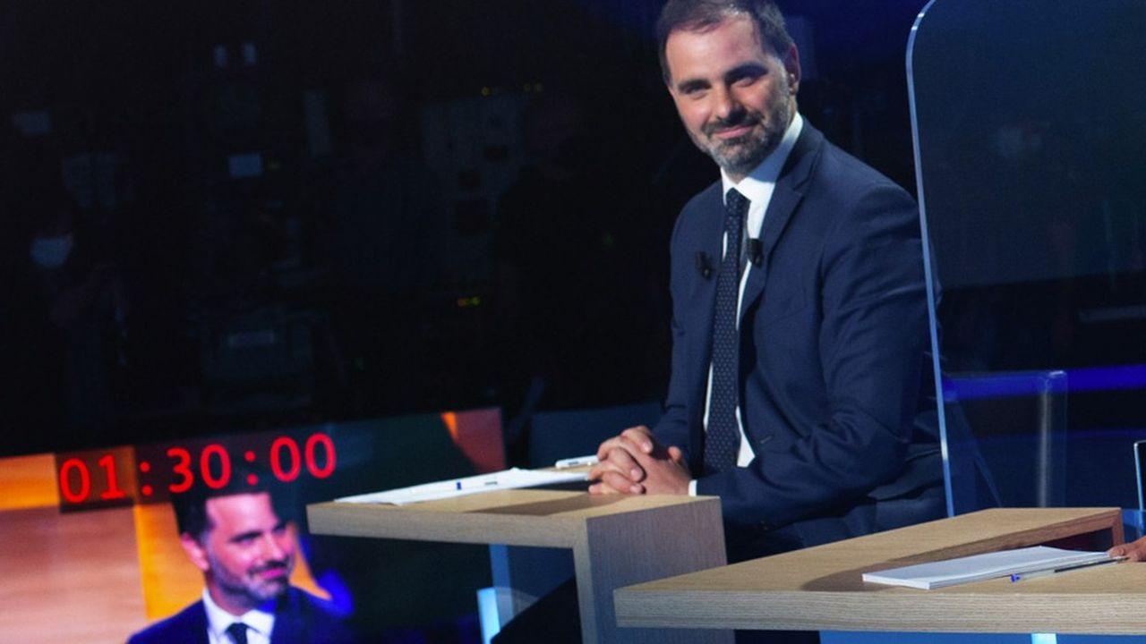 Les têtes de liste LREM aux régionales, comme ici Laurent Saint-Martin pour l'Ile-de-France, tentent de capitaliser sur la gestion de la crise par Emmanuel Macron.