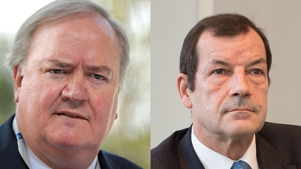 Entre Denis Kessler (patron de Scor, à gauche) et Thierry Derez (Covéa, à droite), qui furent pourtant proches dans le passé, le conflit aura duré près de trois ans.