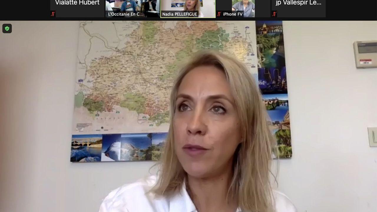 Nadia Pellefigue, vice-présidente PS de la Région Occitanie déléguée au développement économique et à l'innovation.