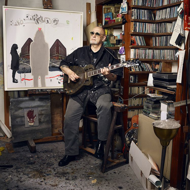CharlElie Couture, chanteur, compositeur… Photographié dans son atelier à Paris le 2 avril 2021.