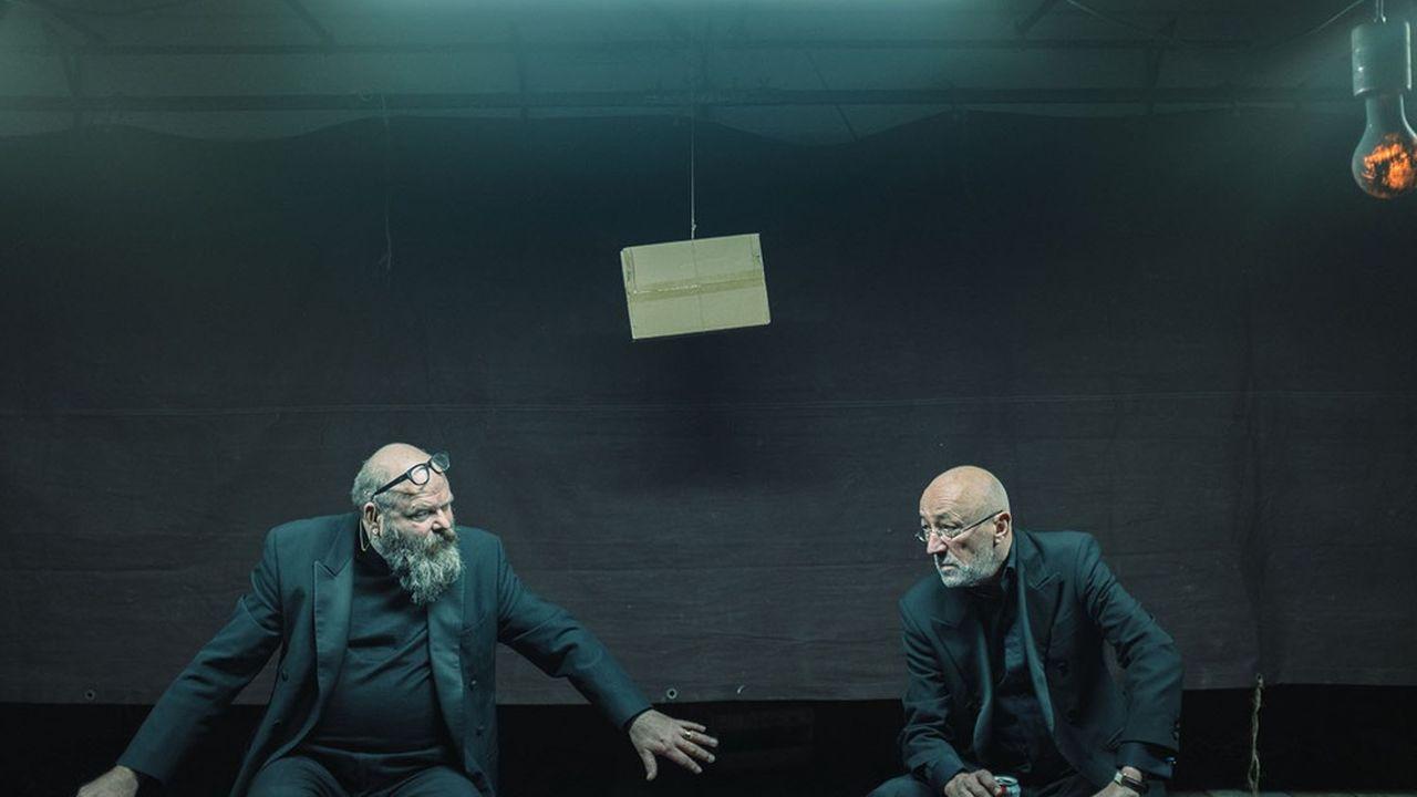 Damiaan De Schrijver (L'Autre) et Matthias de Koning (L'Un), complices depuis près de 40 ans.