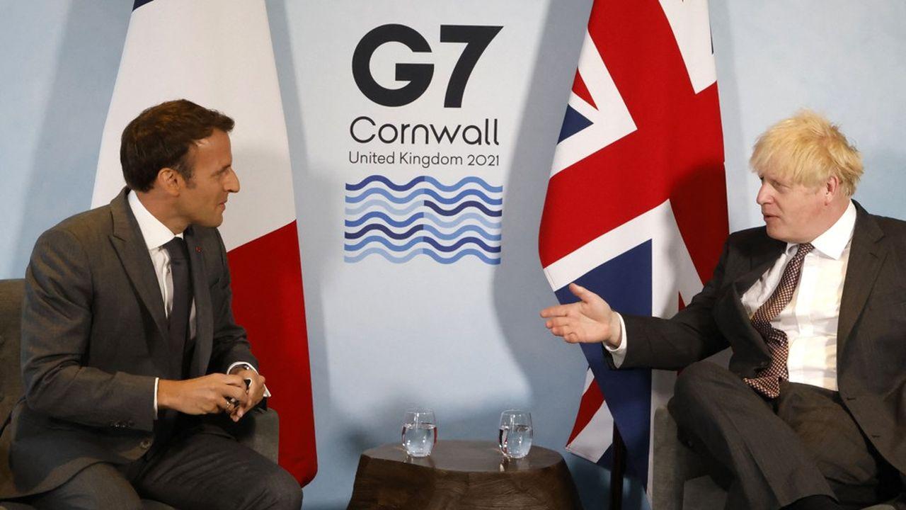 Emmanuel Macron et Boris Johnson ont tenu une rencontre bilatérale sous tension samedi, en marge du G7 de Carbis Bay, au Royaume-Uni.