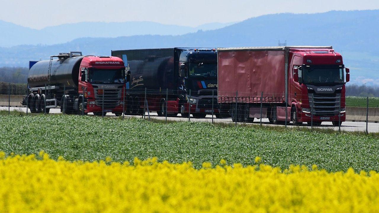 Les camions assurent 95% des livraisons de marchandises dans l'Hexagone.