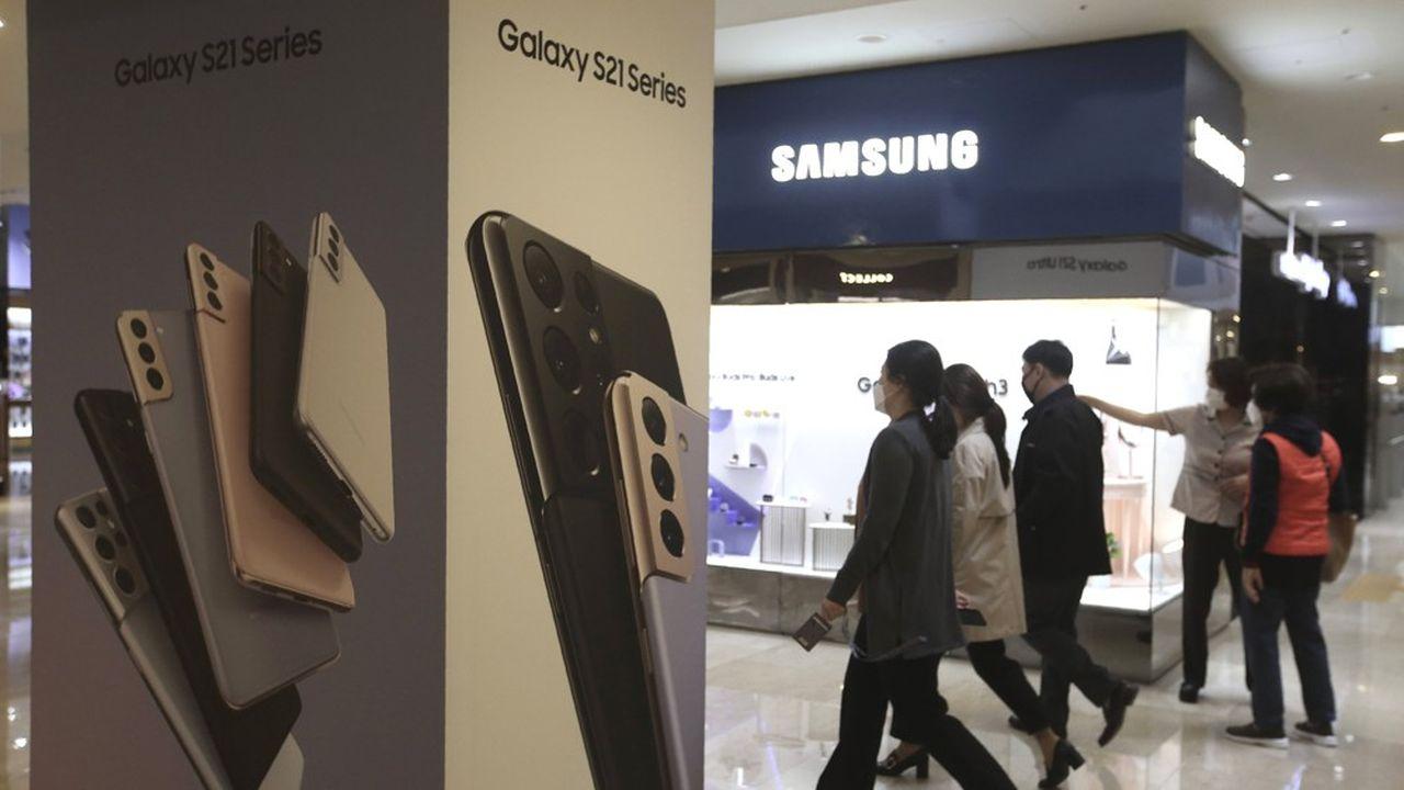 Samsung est le premier fabricant mondial de smartphones, avec 22% du marché au premier trimestre2021, selon Canalys.