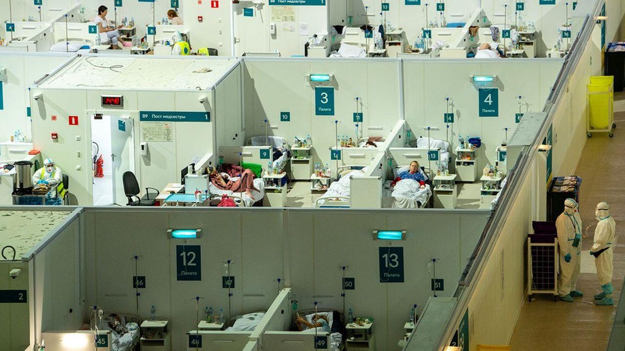 Alors que la mairie de Mascou a annoncé la réouverture d'hôpitaux de campagne pour les cas de Covid, les hôpitaux de ville ont commencé à libérer des lits.