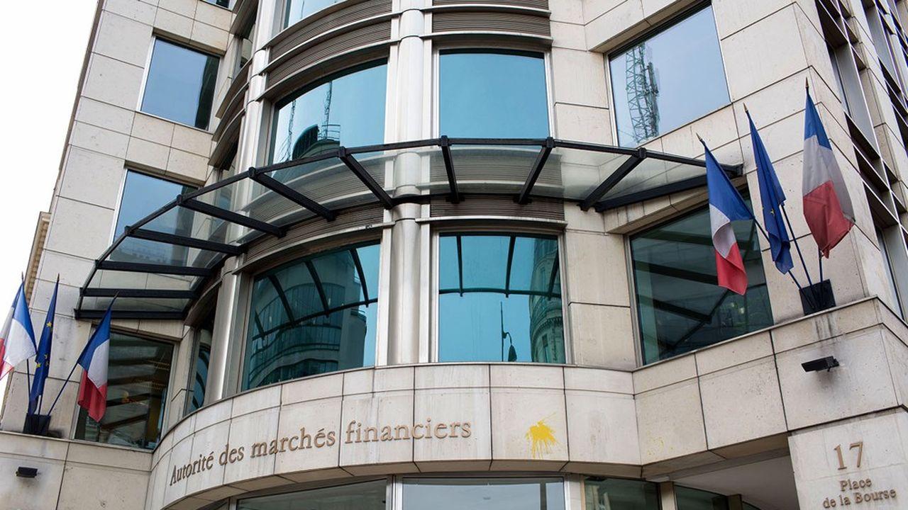 Le siège de l'Autorité des marchés financiers, à Paris.