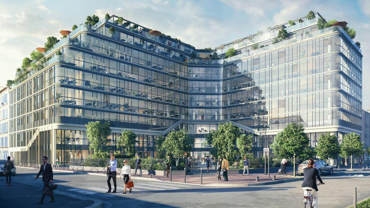 L'immeuble Air se situe au coeur de Levallois, au pied de deux squares publics