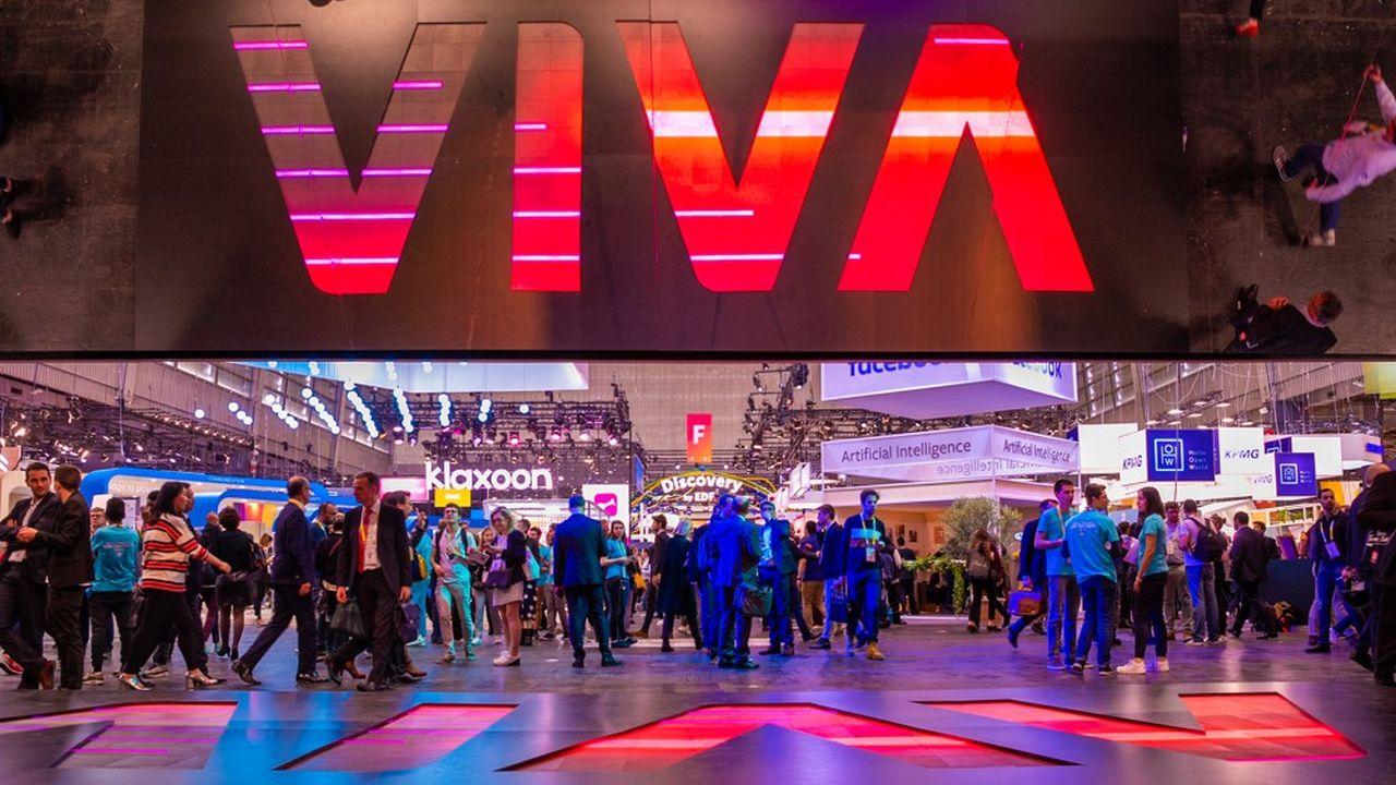L'entrée de Vivatech lors de la dernière édition, au salon des expositions, en 2019.