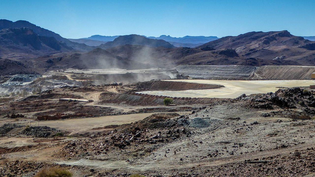 La mine de Bou Azzer dans l'Atlas marocain.