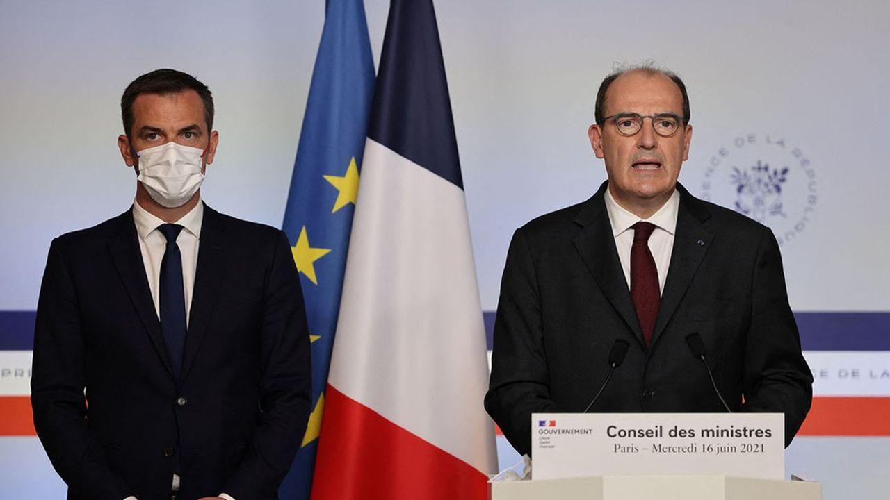 C'est un «moment important, un moment heureux», s'est félicité ce mercredi le Premier ministre, Jean Castex, à la sortie du Conseil des ministres. A ses côtésOlivier Véran.