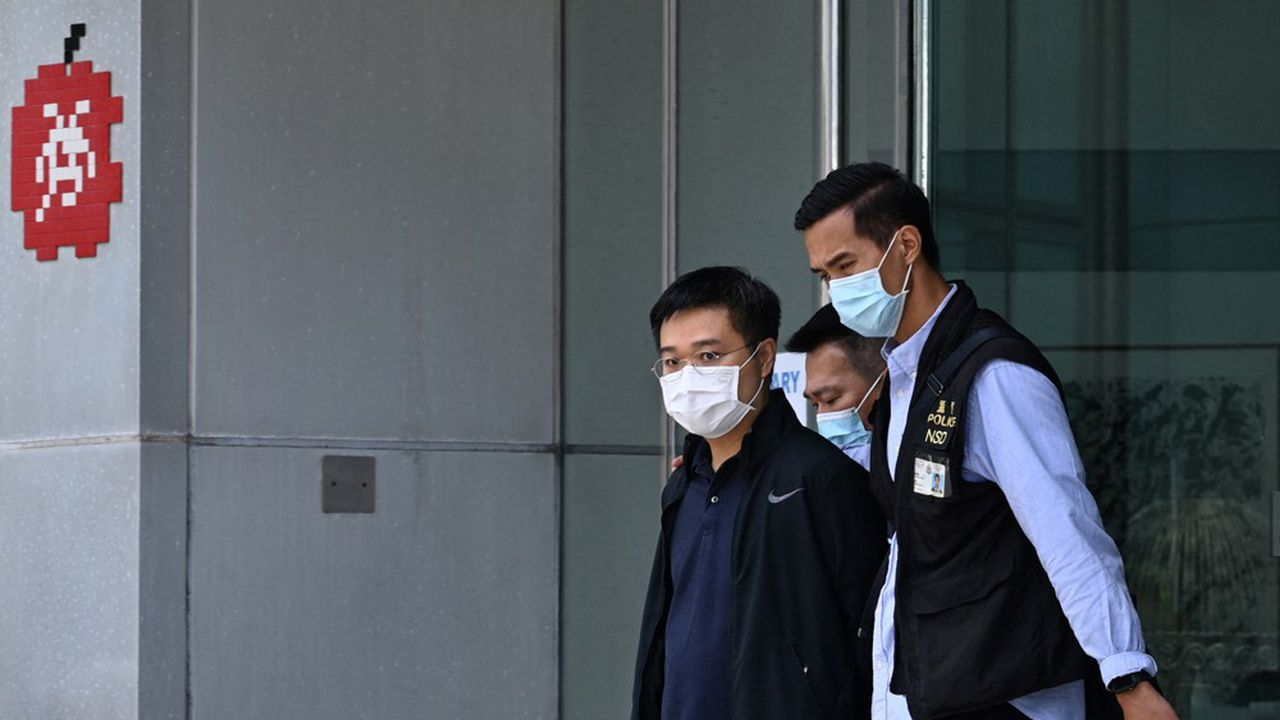 Le rédacteur en chef, Ryan Law (photo), et le PDG d'«Apple Daily», Cheung Kim-hung, ont été arrêtés à leur domicile puis conduits dans les locaux du journal.