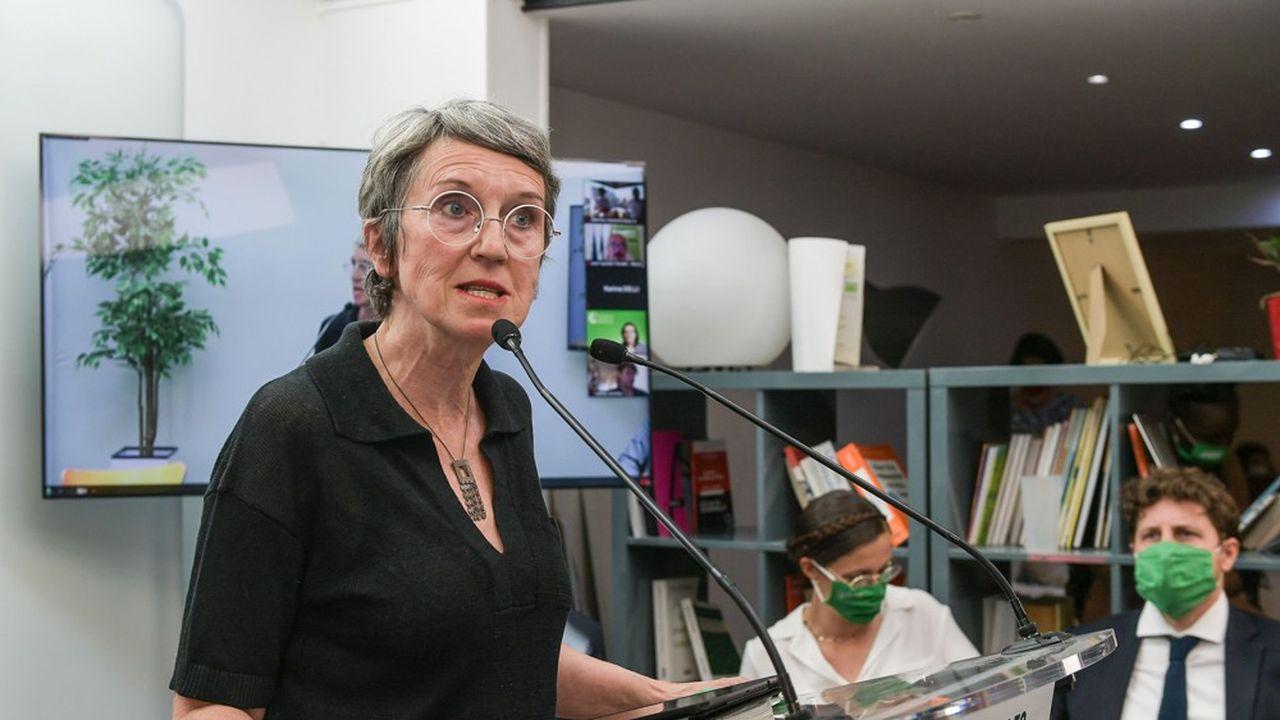 Fabienne Grebert, tête de liste pour la région Auvergne Rhone Alpes, le 8juin dernier.