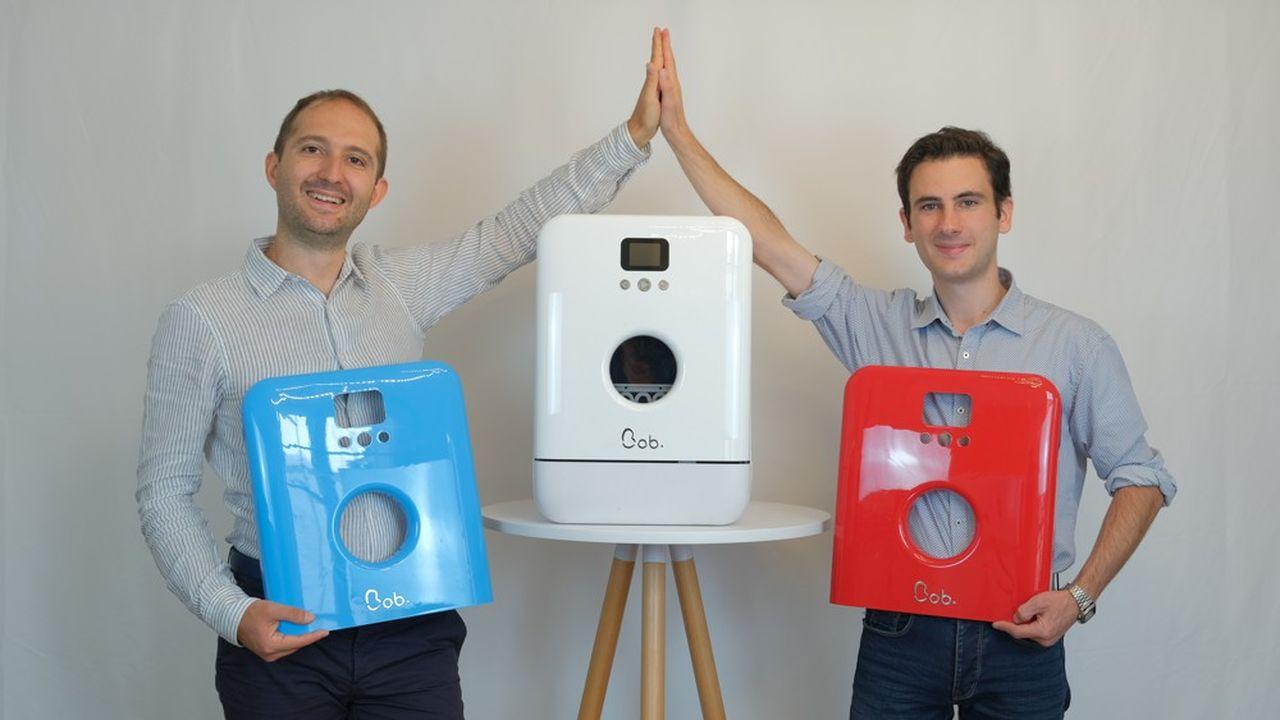 Antoine Fichet et Damian Py, créateurs de Bob, le mini lave-vaisselle Made in France.