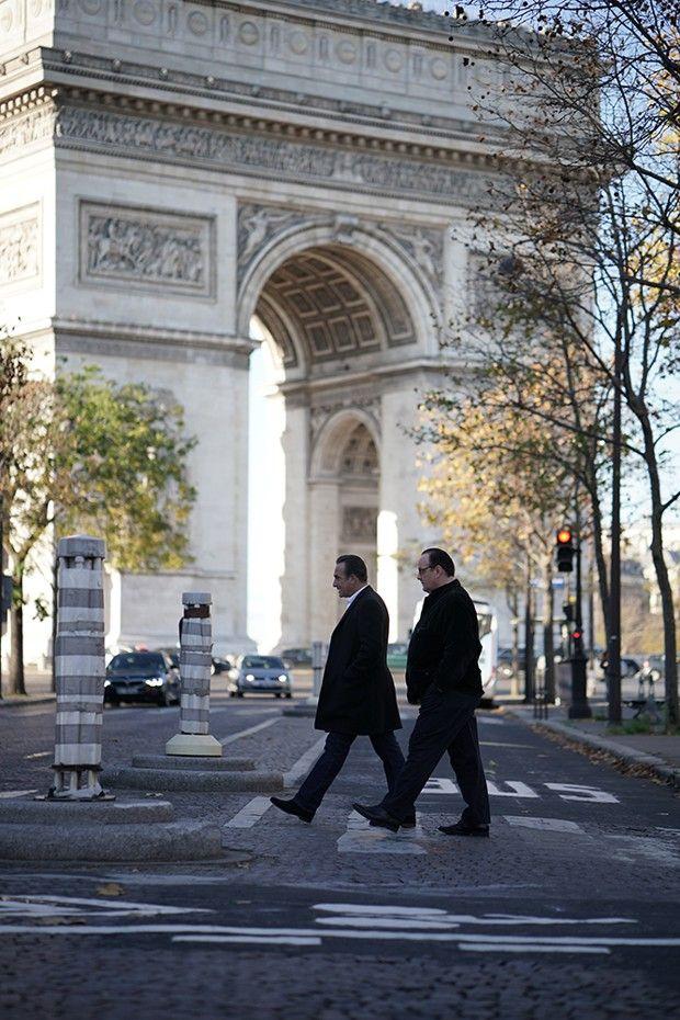 Jean Dujardin et Grégory Gadebois dans «Présidents» (2021) d'Anne Fontaine. Toute ressemblance...