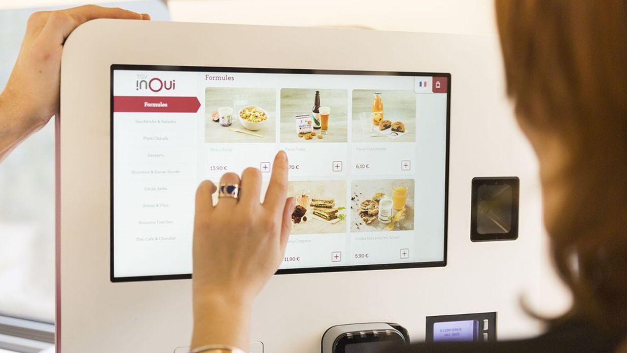 Newresta déployé une application mobile de commande des repas qui a connu un grand succès, et il va maintenant installer des bornes de commande dans les voitures-bars.
