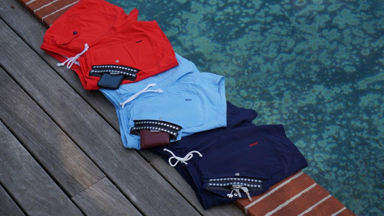 Le concept ? Un short de bain avec une poche étanche, résistante à l'eau jusqu'à 30 mètres de profondeur.