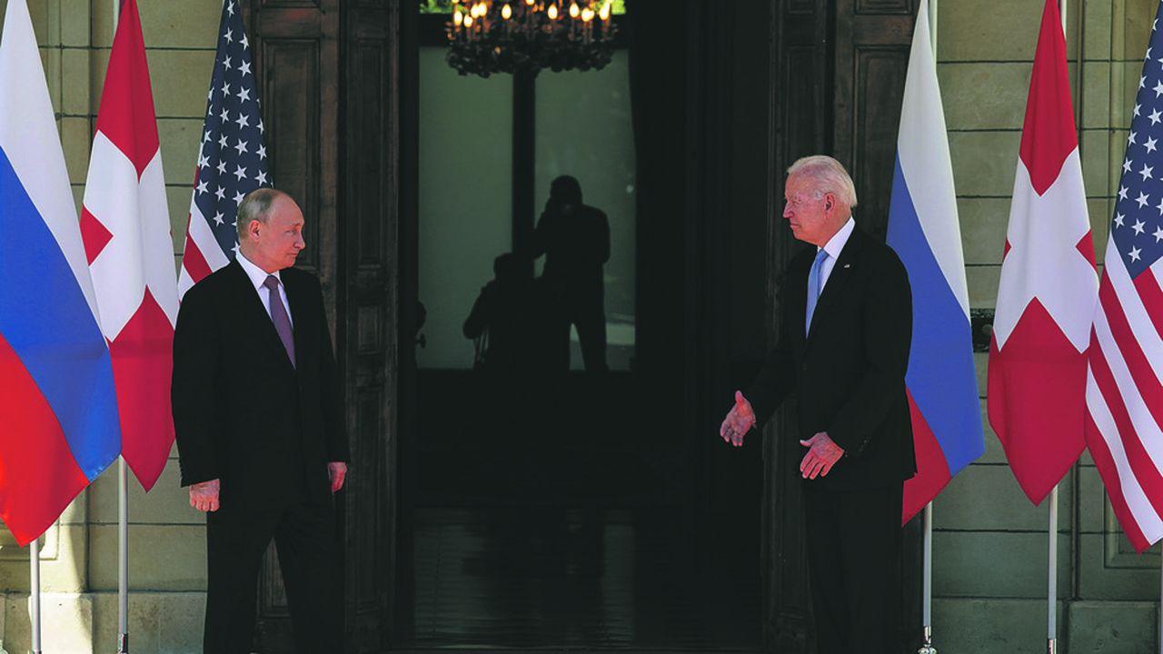 Le président des Etats-Unis, Joe Biden, et son homologue russe Vladimir Poutine, lors de leur rencontre à Genève le 16 juin 2021.