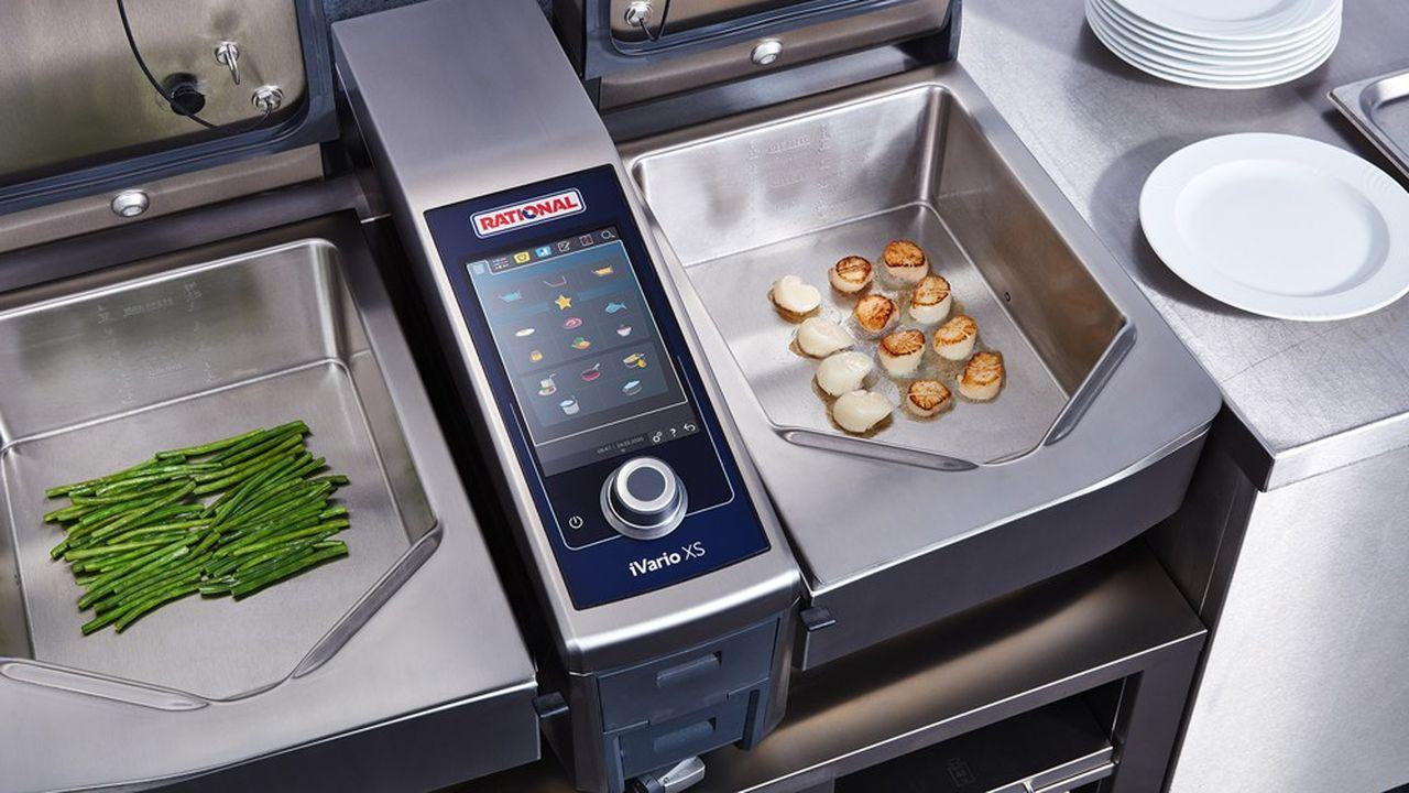 Rational remplace en un seul appareil les sauteuses, marmites, pianos et friteuses.