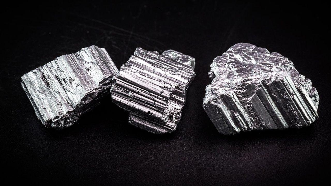 Le néodyme, l'un des 17 métaux rares, sert à la fabrication d'aimants de haute performance.