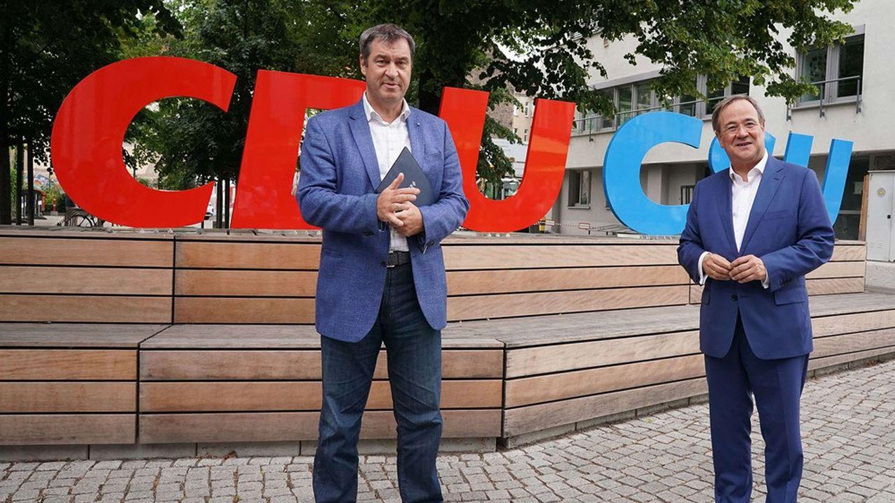Le premier ministre bavarois et président de la CSU, Markus Söder, a assuré lundi de son franc soutien son ancien rival et candidat à la chancellerie, Armin Laschet.