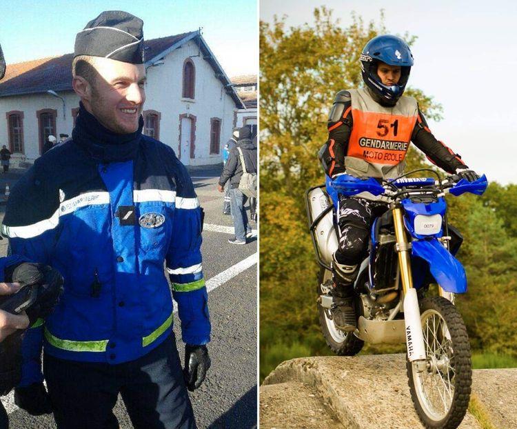 Thibaut a passé sept ans au total dans les forces de l'ordre, dont cinq en tant que motard dans la gendarmerie nationale.