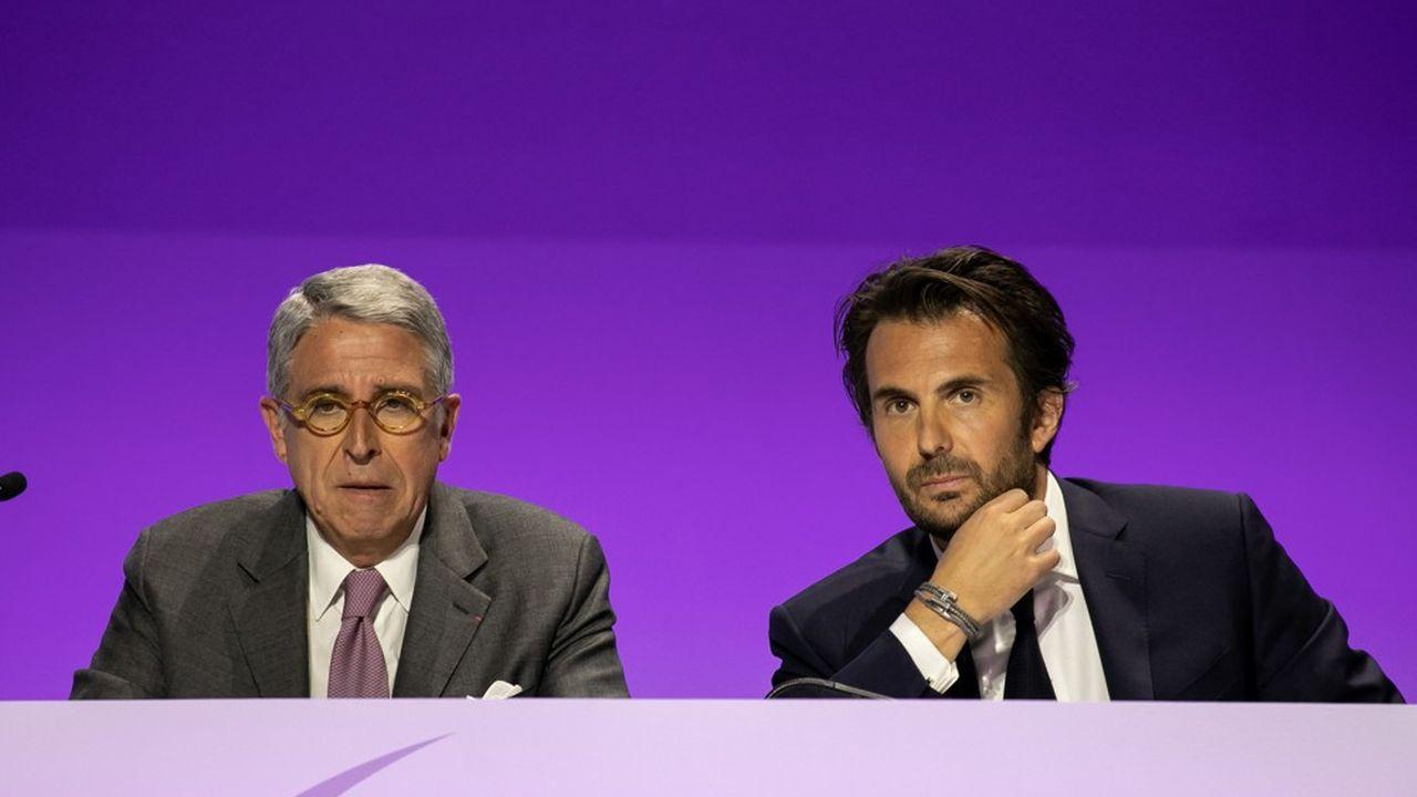 Arnaud de Puyfontaine, président du directoire, et Yannick Bolloré, président du conseil de surveillance de Vivendi doivent trouver un nouveau moteur boursier pour Vivendi.
