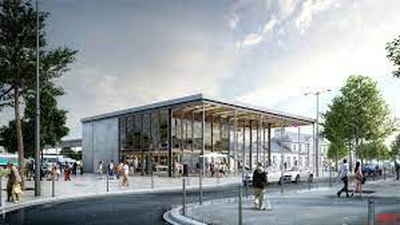 La nouvelle gare d'Auray est prévue pour l'accueil de 1,4million de passagers en 2030.