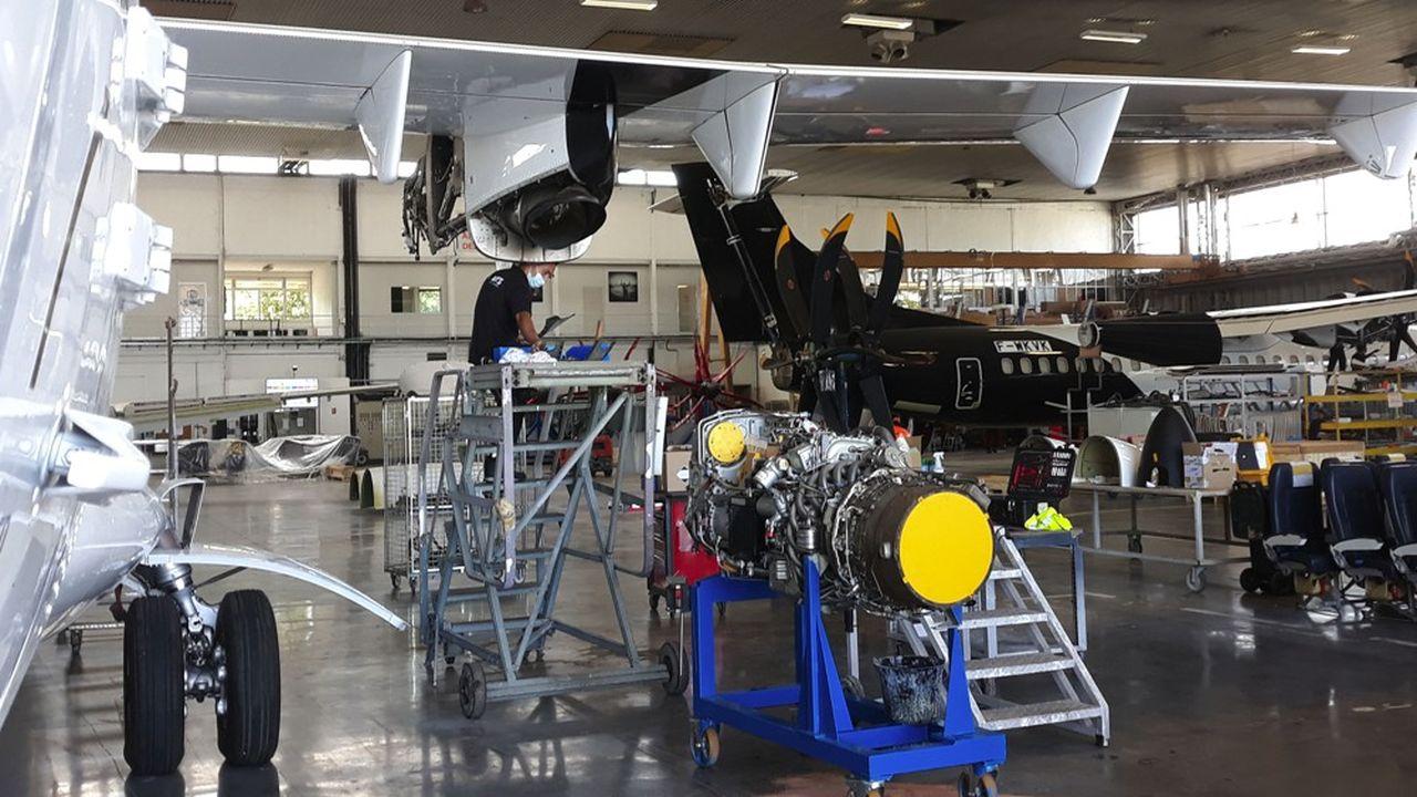 L'atelier de maintenance d'avions régionaux à Toulouse Francazal.